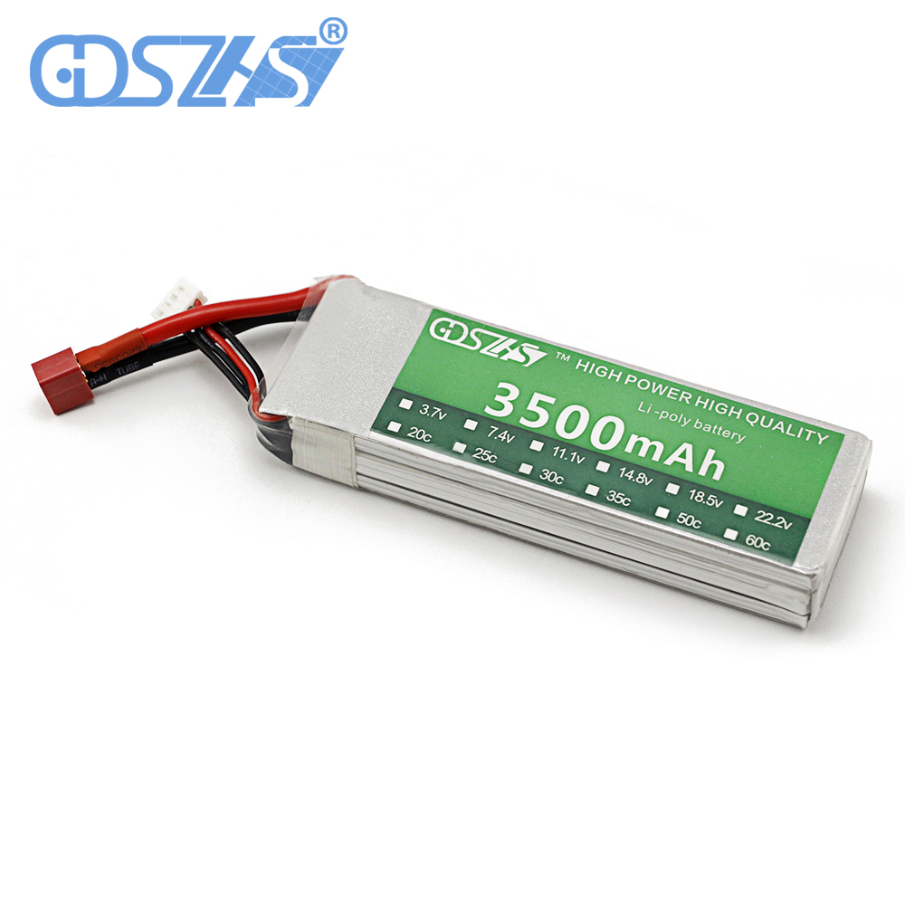 GDSZHS RC Power Lipo Battery 3500mAh 11.1V 3S 30C for Trex 450 CX20 Helicopter RC Airplanes Cars xxl rc lipo battery 2200mah 11 1v 3s 30c for trx 450 rc fixed wing helicopters airplanes cars
