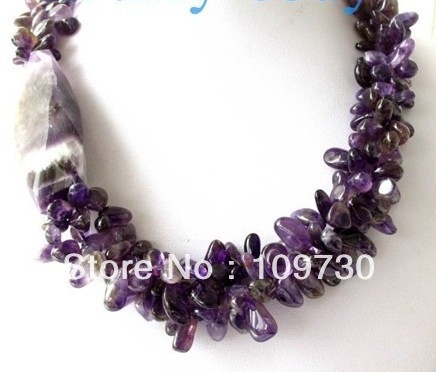 Jewelry 0012585 Genuine Natural Butterfly & BIG Faceted Drip Necklace