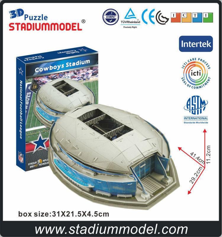 Ligue nationale De Football Dallas-Vache garçons Maison Texas Stade 3D Modèle de Puzzle Papier