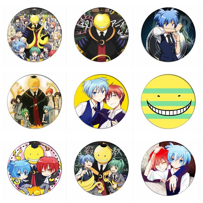 Assassination Classroom Akabane Karuma Cosplay Badge Korosensei Brooch Bag Pins Shiota Nagisa Collection Badges for Backpacks