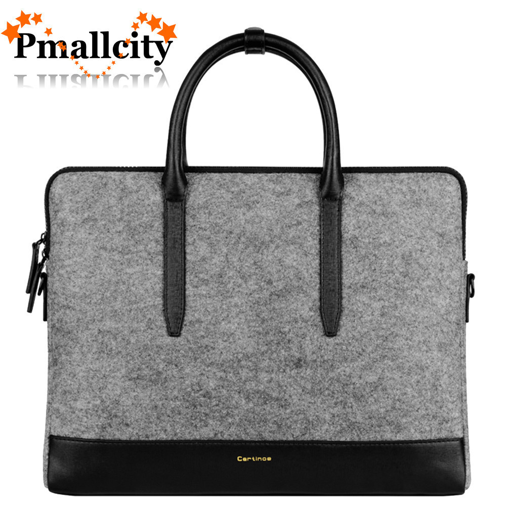c291843f41f81 US $24.42 30% OFF|Wool Felt Laptop Bag 11 13 15 Sleeve Notebook Messenger  Shoulder Bag for Macbook Air 11 12 13 15 Pro Retina Case Women Handbag-in  ...