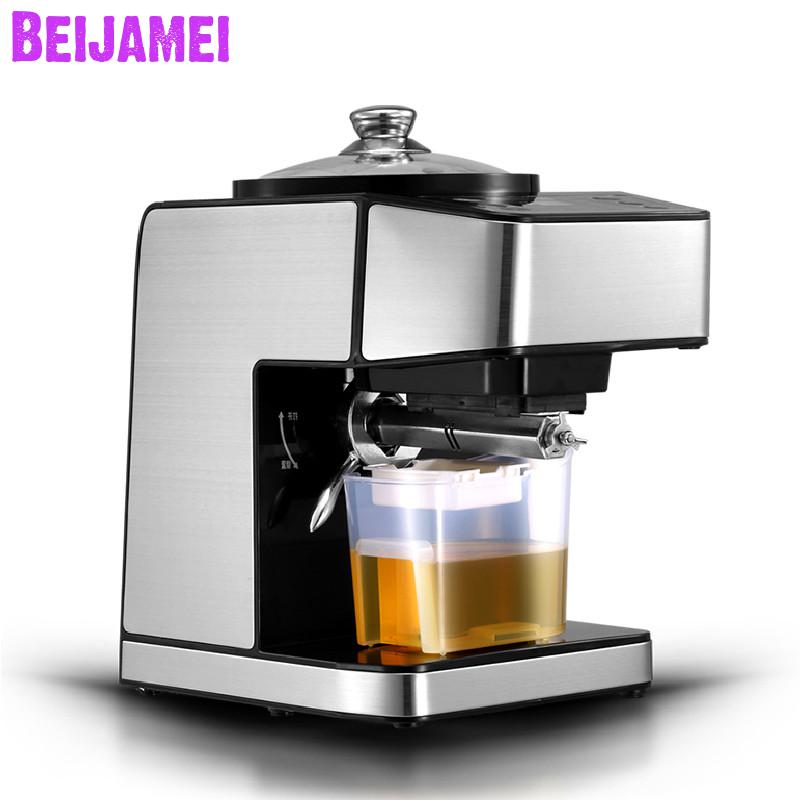 BEIJAMEI Stainless Steel Mini Oil Press Machine For Peanut,sunflower seed Commercial Oil Extraction Expeller PresserBEIJAMEI Stainless Steel Mini Oil Press Machine For Peanut,sunflower seed Commercial Oil Extraction Expeller Presser