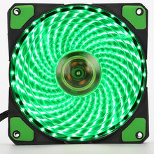 120mm PC Computer 16dB Ultra Stille 33 LEDs Case Fan Heatsink Cooler Cooling w/Anti-Vibratie Rubber, 12 CM Fan, 12VDC 3 P IDE 4pin(China)