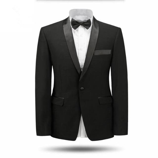 Et Hommes Châle Noir Col Smokings Blanc Costumes Mariage Veste De OXZkiTPu