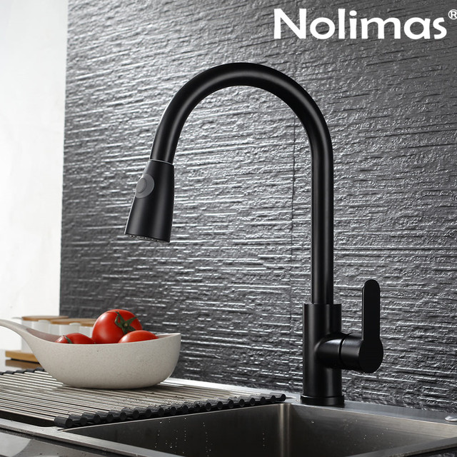 hot and Cold Sink Kitchen Faucet Folding Flat 304 Stainless Steel Rotary Sink No Window Window Black Reversible Window Faucet Sink