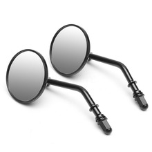 One Pair Universal Stainless Steel Motorcycle Classic Retro Vintage Round Rearview Mirror 8mm Motorcycle Mirror Accessories carmate fan shaped sub mirror one pair in