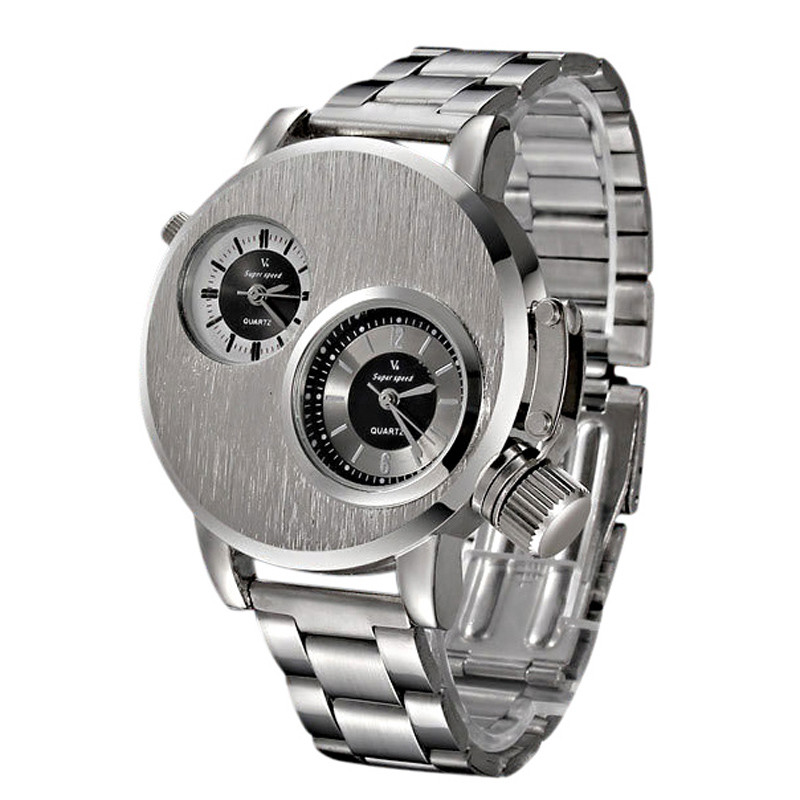 Fashion New Mens Relogio Masculino Stainless Steel Date Military Sport Quartz Analog Wrist Watches
