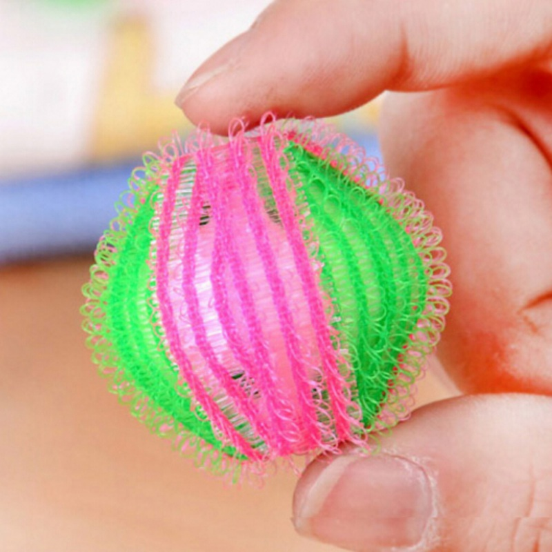 6ocs Wash Ball Hair Removal Decontamination Magic Cleaning Laundry Ball Clothes Wash Household Cleaning Accessories