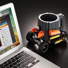 Drink Bausteine Tassen DIY Block Puzzle Becher 12 unze 1 Stück Build-Auf Ziegel kreative Becher Lego Art Kaffeetasse Kostenloser Versand