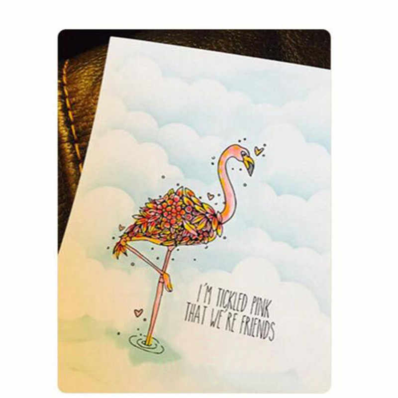 Flamingo GJCrafts Selo e Morre 2018 Nova Beleza Stand Tall Clear Corte Morre para o Scrapbook DIY Decoração Cartão de Selos De Metal ofício
