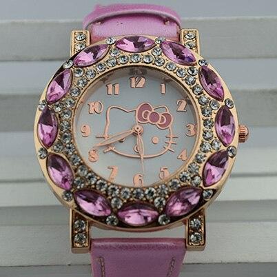 Hello Kitty Sweet Gem Diamonds Watches Leather Wrist Women Watch Sweet  Ladies Watch Valentineu0027s Day Birthday Gift Watch In Loveru0027s Watches From  Watches On ...