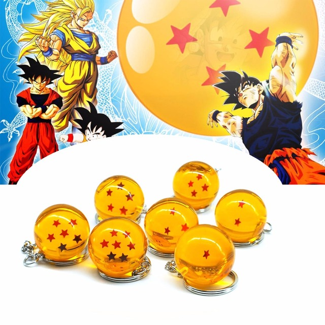 Dragon Ball Z Stars Crystal Ball Keyrings PVC Pendant