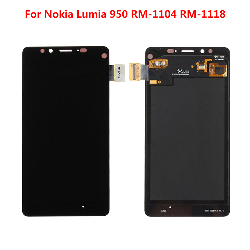 For Nokia <font><b>Lumia</b></font> <font><b>950</b></font> RM-1104 RM-1118 LCD Display+Touch Screen Digitizer Assembly+Frame Replacement <font><b>Parts</b></font> image