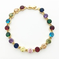 Multi-Color Stone Jewelry Gold Color Casual Bracelets For Women Christmas Gift Free shipping