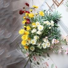 Xuanxiaotong 5pcs 65cm Large Daisy Silk Artificial Flowers Bouquet for Home Decoration Wedding Decor Arrangement Art