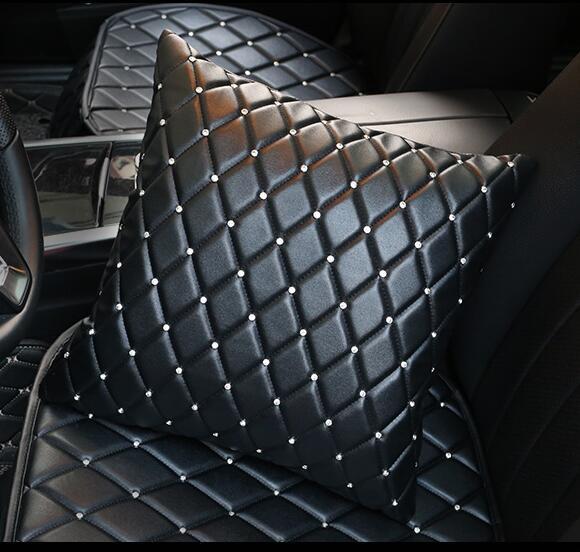 Nuevas cubiertas de volante de coche de cristal de lujo para mujeres niñas de cuero de imitación cubierta de volante de coche accesorios interiores