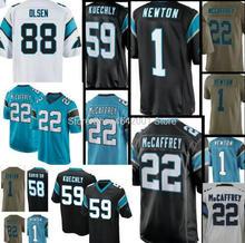 2018 New 1 Cam Newton jersey Men 59 Luke Kuechly 22 Christian McCaffrey  Panthers 58 Thomas. 13 Colors Available 451c26bb0