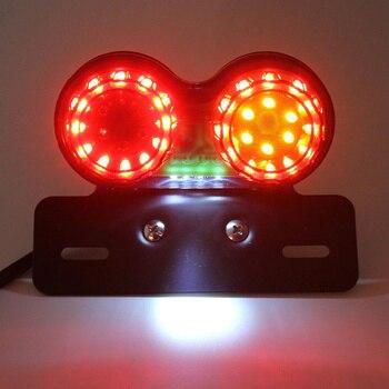 Motosiklet Led ışık E N E N E N E N E N E N E N E N E N E N Dönüş Sinyali Fren Plaka Entegre Işık Tek Parça Arka Stop Lambası Modifiye Lamba Gece Lambası