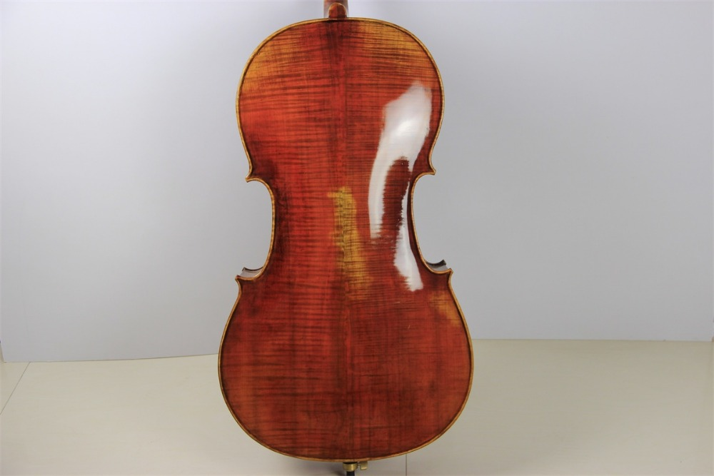 100% Hand Made High Quality Antique Style Maestro Strad 4/4 Cello Old Spruce Top Flame Maple Wood Back italy master hand made carved maple violin naturally flamed customized antique violino 4 4 w full accessories tongling brand