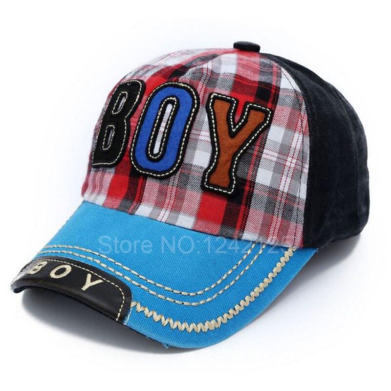 Nueva primavera otoño niño niños gorra de béisbol a cuadros vaqueros  genuino sombrero bordado gorra de béisbol del niño del bebé casquillo  enarbolado ... 21752799904