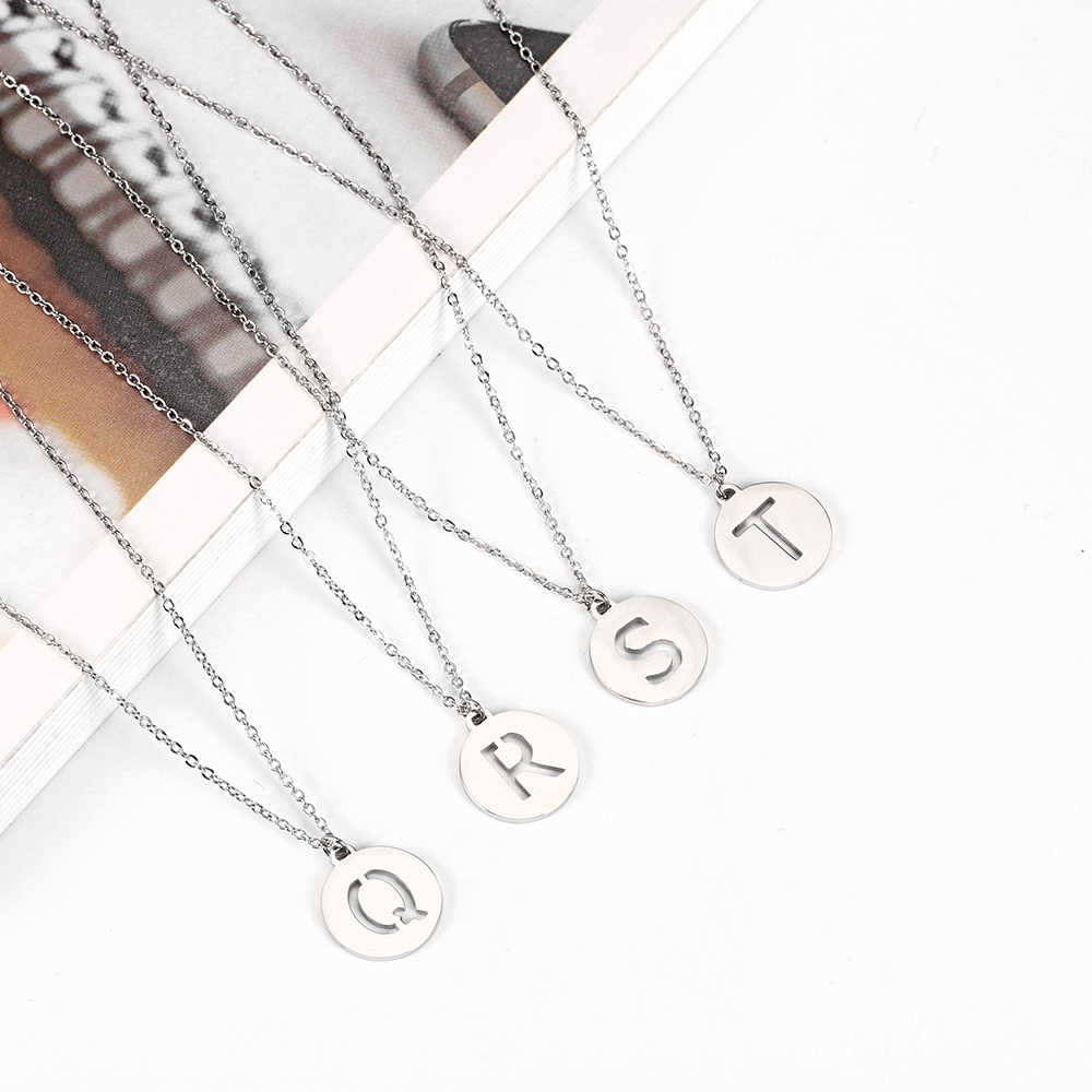 OUFEI stainless Charm Stainless steel jewelry Woman Vogue 2019 Jewelry Accessories Letter Necklace Initial Necklace Bohemian