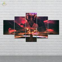 Dragon Goddess Art Modern Canvas Prints Poster Wall Painting Home Decoration Artwork Pictures for Bedroom 5 PIECES