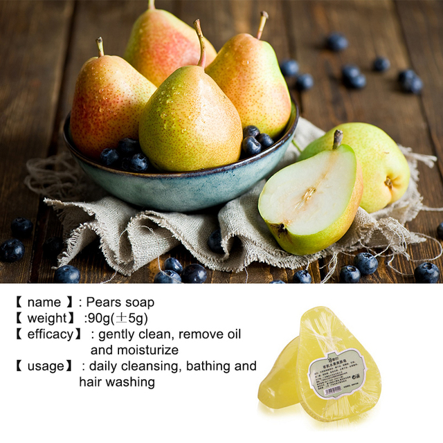Handmade Whitening Fruit Soap Control Oil Remove Blackheads Anti-Mites Shrinking Pores Soap For Face Body 3