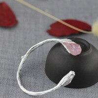 S925 sterling silver jewelry retro palace elegant women flowers chalcedony bracelet