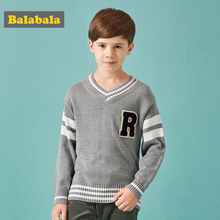 Children Boys Sweater 2018 Autumn New Children's Clothing For Boys Cotton Retro Campus Loose Fashion sweaters For Kids Boy Contr