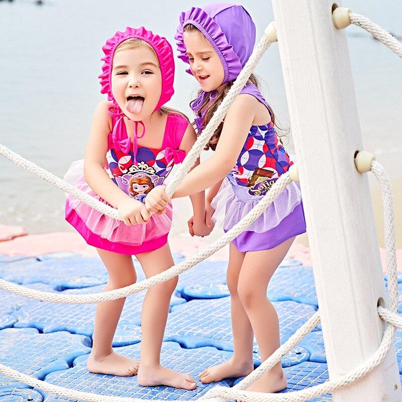 Child Swimwear Girl Swimsuit For Children Junior Girls Bathing Suits 2018 New Beach By Surfing Baby 5823 Animal Polyester Sierra
