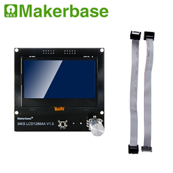 Display de impressora 3d mks lcd12864a/b inteligente display lcd controlador módulo do painel compatível com bigtree skr v1.3