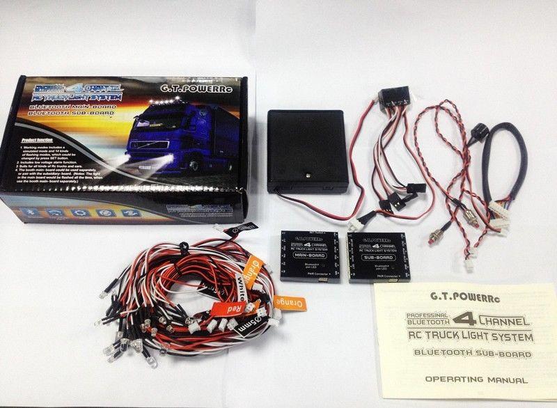 Oyuncaklar ve Hobi Ürünleri'ten Parçalar ve Aksesuarlar'de GT GÜÇ RC Profesyonel Bluetooth ışık sistemi 4 Kanal 1/14 RC TAMIYA Traktör'da  Grup 2