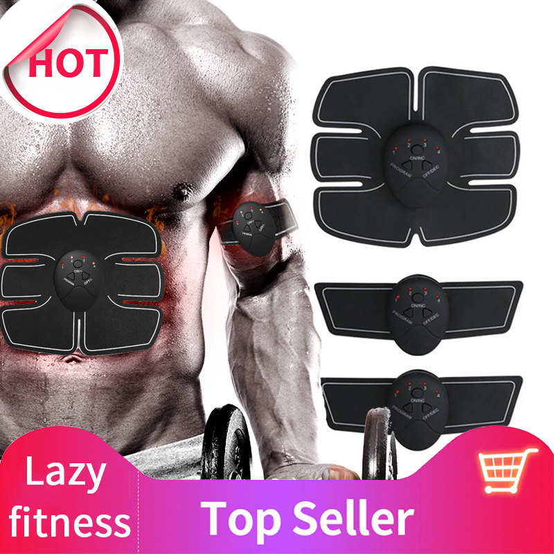 EMS Abdominal Muscle Trainer Massage Stimulator Exercise Slim Body Vibration Machine Loss weight Smart Fitness Equipment