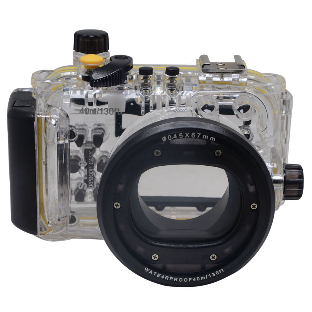 Meikon WP DC44 Waterproof Underwater Housing Case 40M 130FTFor Canon G1X Camera 18mm lens with Hand