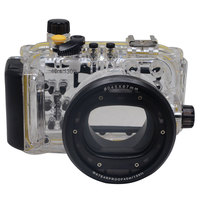 Meikon WP DC44 Waterproof Underwater Housing Case 40M/130FTFor Canon G1X Camera 18mm lens with Hand strap with O ring