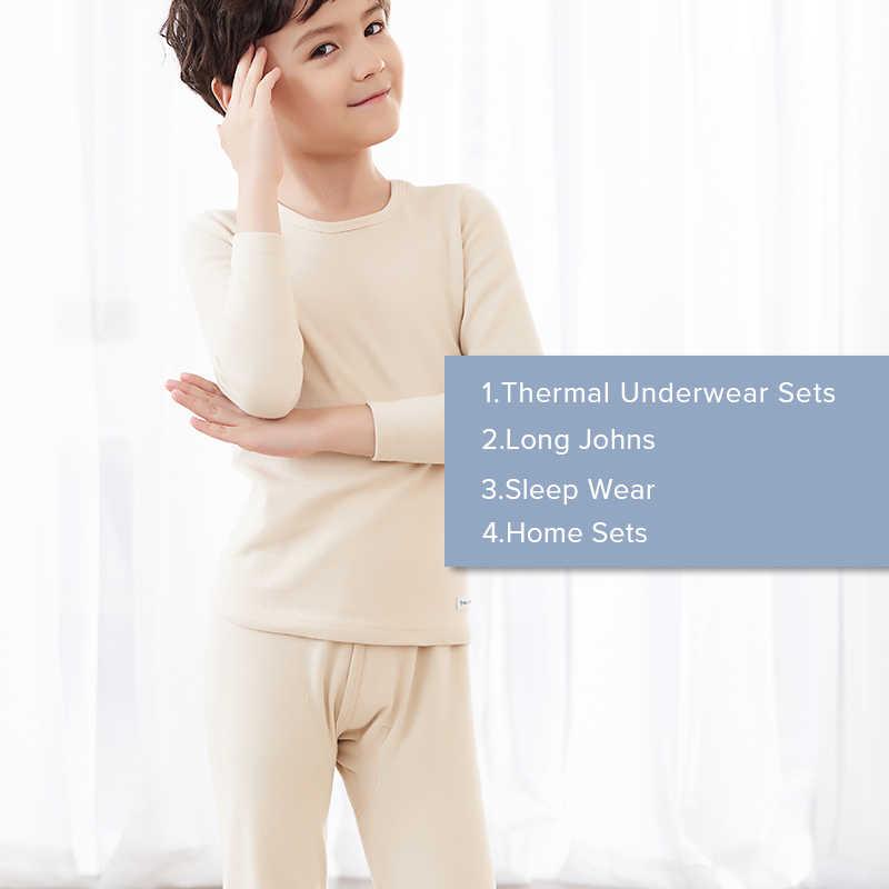1bcdb3ef ... Cotton Soft Thermal Underwear Kids Long Johns Boys Girls Winter Pijamas  Solid Colors Children's Clothing Children ...