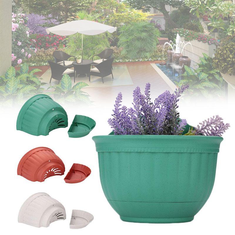 Decen Half Round Vertical Garden Pots Plastic Flower Pots Vertical