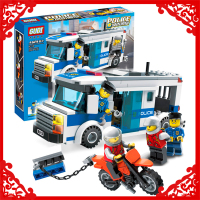 GUDI 9313 City Police Prisoner Transport 204Pcs Bricks Building Blocks DIY Figure Educational Assemble Toy Gifts