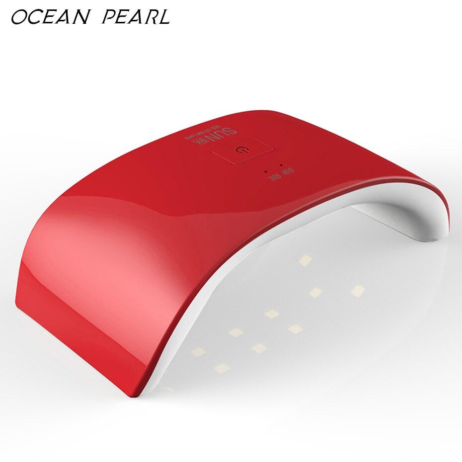 OCEAN PEARL 24W Nail Dryer 5 Colors Professional UV Lamp Nail Dryer LED Lamps Polish Machine for Curing Nail Gel Art Tools Sun9X