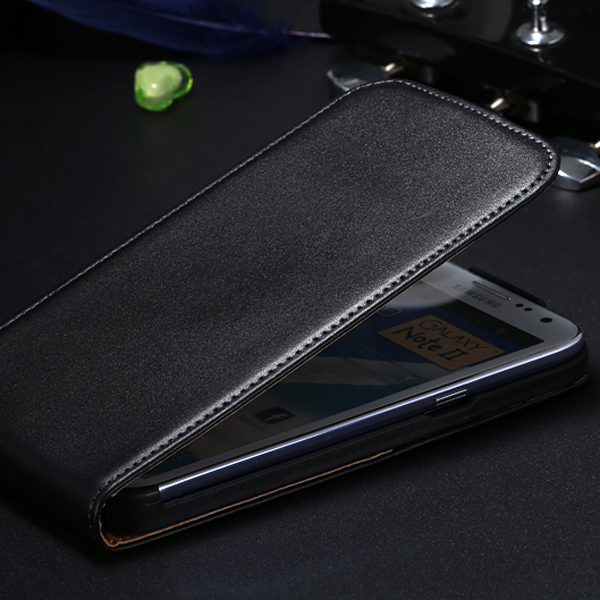 Note2 New Retro Luxury Flip Real Genuine Leather Case for Samsung Galaxy Note 2 N7100 Mobile Phone Bags Cover Pouch