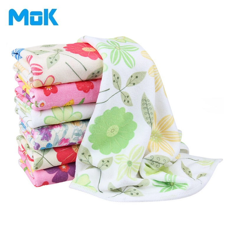 Buy 8 pieces multi flower printed for Glass cleaning towels
