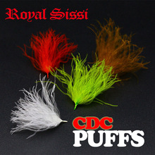 Royal Sissi 4 packs / set CDC öler puffs hand selected Cul De Canard trocken fliegen binden feder nippel plumes flügel post binden material