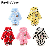Autumn Winter Baby Romper Newborn Clothes Long Sleeve Coverall Hooded Baby Boy Clothes Girls Clothing Set