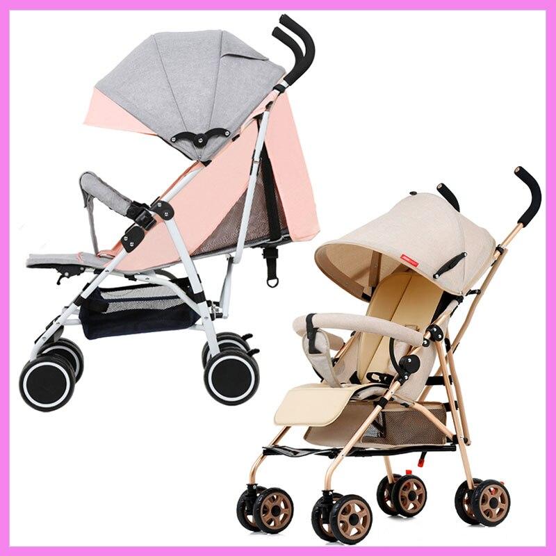 Portable Lightweight Baby Stroller Can Sit Lie Down Folding Shock Absorber Light Baby Stroller Travel Pushchair Umbrella Cart