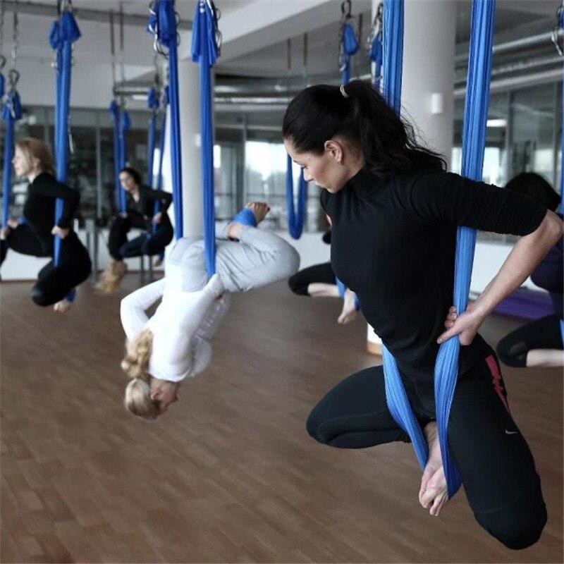 Élastique 5 mètres 2017 yoga aérien hamac balançoire dernières multifonctions Anti-gravité yoga ceintures pour yoga formation yoga pour le sport - 5