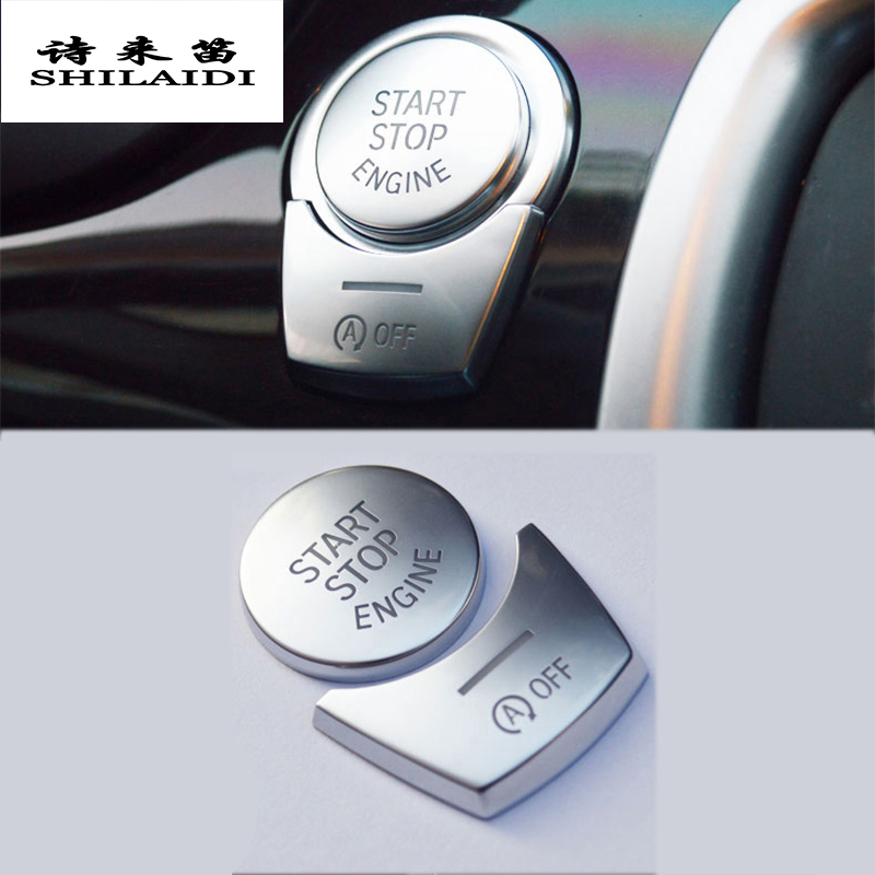 Car styling ENGINE START STOP switch button Covers Stickers for <font><b>BMW</b></font> 5/6/7 series f10 GT F07 <font><b>F01</b></font> F chassis cars auto <font><b>Accessories</b></font> image