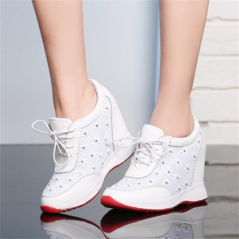 NAYIDUYUN Mujeres De Cuero Super High Heel Botines Casual Party - Zapatos de mujer