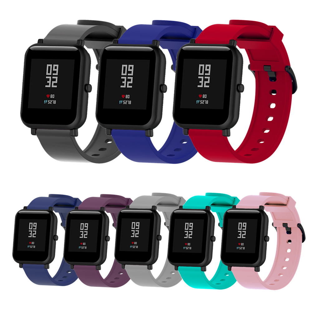 20mm Smart Watch Band For Amazfit Bip Strap Silicone Bracelet Correa For Xiaomi Huami Amazfit Bip BIT PACE Lite Youth Accessorio