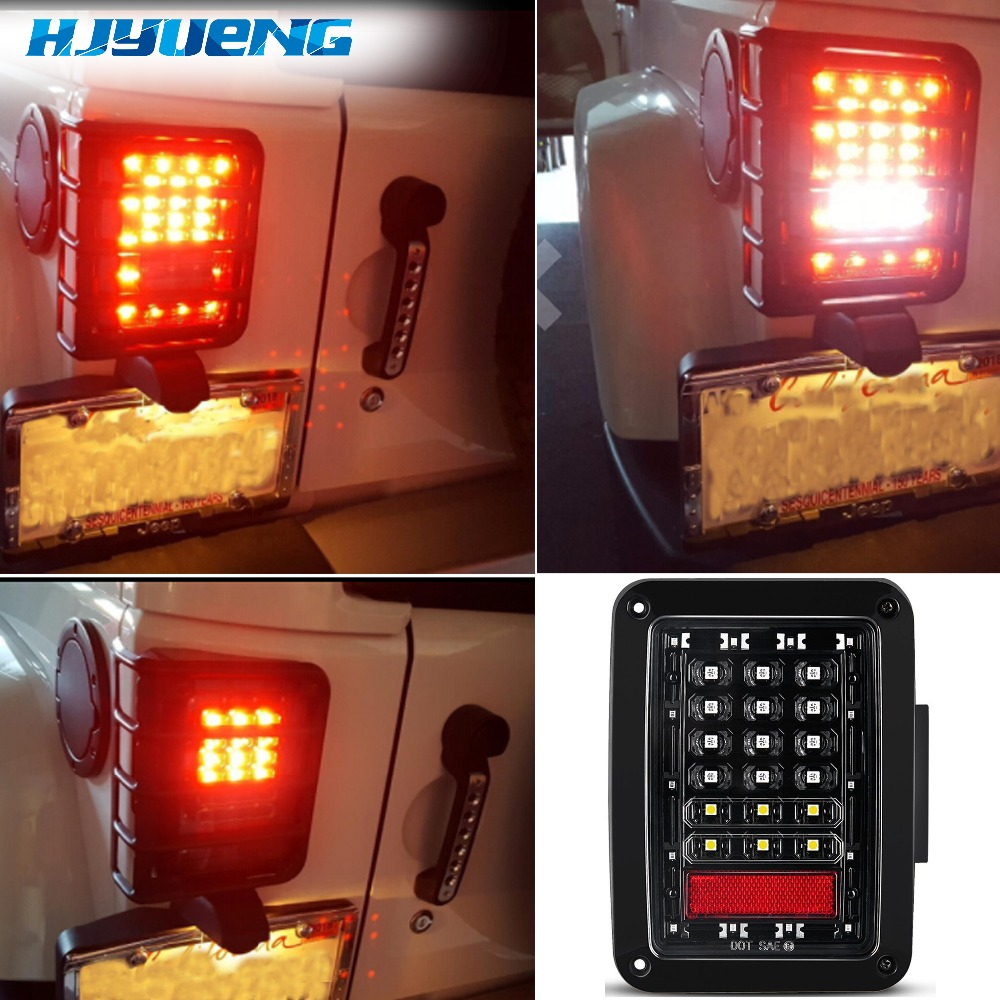 Image 5 - 75w For Jeep Wrangler Led Tail Light With Reverse Light Brake Light Turn Signal Plastic Wrangler Tail Light For Jeep Wragnler JK-in Car Light Assembly from Automobiles & Motorcycles