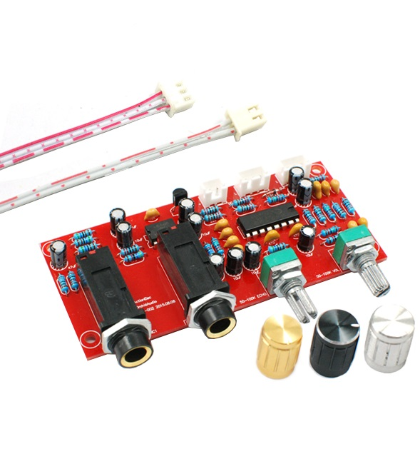 DIY PT2399 Digital Microphone Amplifier Board Karaoke Plate Reverb Preamplifier Reverberator Suite Components NE5532